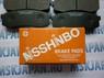 Колодки тормозные дисковые задние Nisshinbo для Mitsubishi Pajero/Montero (V8, V9) (2007-) PF-1243