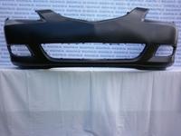 Бампер передний (седан) 1.6 без отверстий под омыватели фар черный (неоригинал) TYG (Тайвань) для Mazda 3(04-06) BNYV-50-03XE