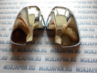 Хромированные накладки на зеркала заднего вида, без поворотников для Mitsubishi Outlander (2013-2016)